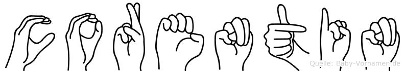 Corentin im Fingeralphabet der Deutschen Gebärdensprache