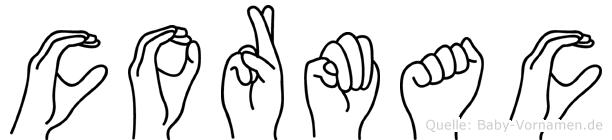 Cormac im Fingeralphabet der Deutschen Gebärdensprache