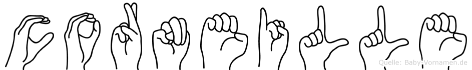 Corneille im Fingeralphabet der Deutschen Gebärdensprache
