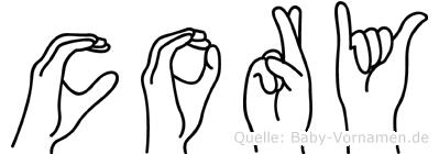 Cory im Fingeralphabet der Deutschen Gebärdensprache