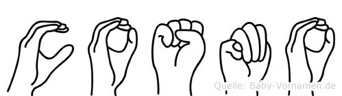 Cosmo in Fingersprache für Gehörlose
