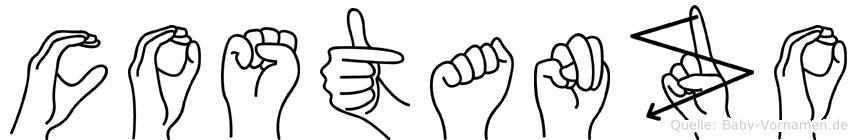 Costanzo im Fingeralphabet der Deutschen Gebärdensprache