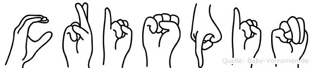 Crispin in Fingersprache für Gehörlose