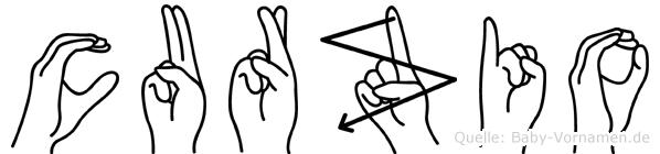 Curzio im Fingeralphabet der Deutschen Gebärdensprache