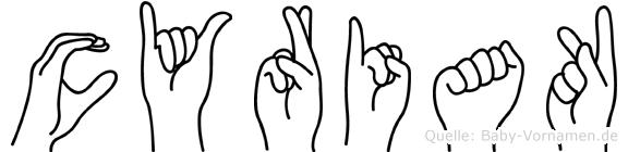 Cyriak in Fingersprache für Gehörlose