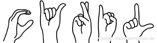 Cyril in Fingersprache für Gehörlose