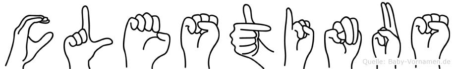 Cölestinus in Fingersprache für Gehörlose