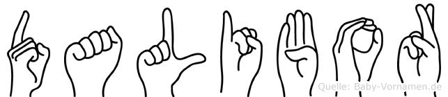Dalibor in Fingersprache für Gehörlose