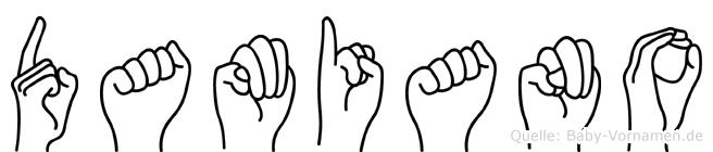 Damiano in Fingersprache für Gehörlose