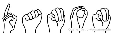 Damon in Fingersprache für Gehörlose