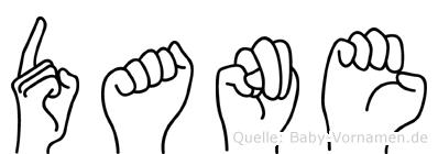 Dane in Fingersprache für Gehörlose