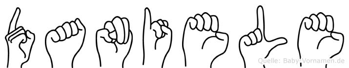 Daniele im Fingeralphabet der Deutschen Gebärdensprache