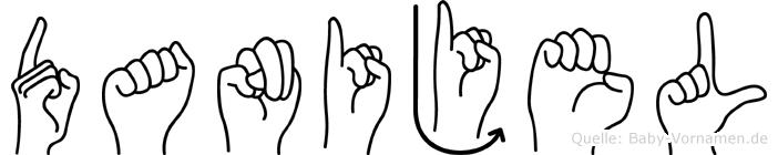 Danijel in Fingersprache für Gehörlose