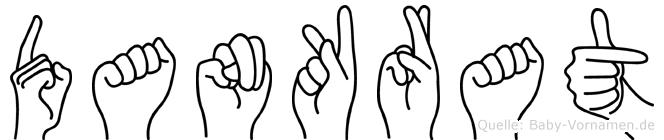 Dankrat im Fingeralphabet der Deutschen Gebärdensprache