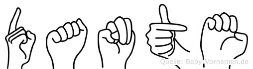 Dante in Fingersprache für Gehörlose