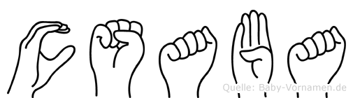 Csaba in Fingersprache für Gehörlose