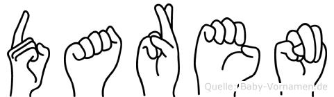 Daren in Fingersprache für Gehörlose