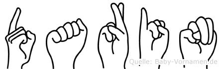Darin in Fingersprache für Gehörlose