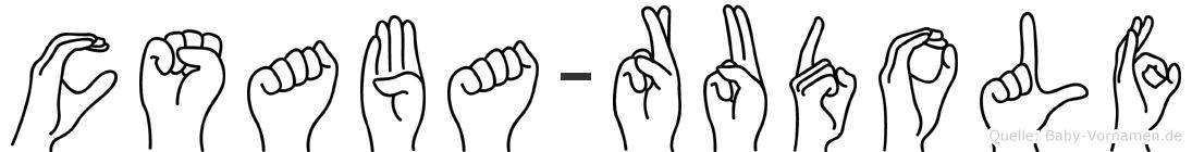 Csaba-Rudolf im Fingeralphabet der Deutschen Gebärdensprache