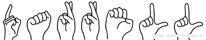 Darrell im Fingeralphabet der Deutschen Gebärdensprache