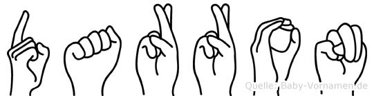 Darron im Fingeralphabet der Deutschen Gebärdensprache