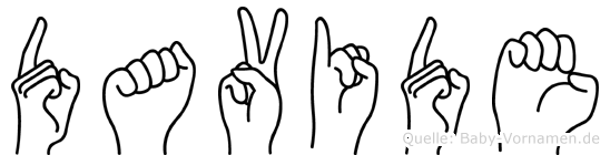 Davide in Fingersprache für Gehörlose