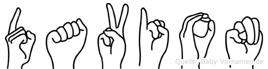 Davion in Fingersprache für Gehörlose