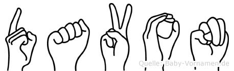 Davon in Fingersprache für Gehörlose