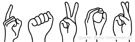 Davor in Fingersprache für Gehörlose