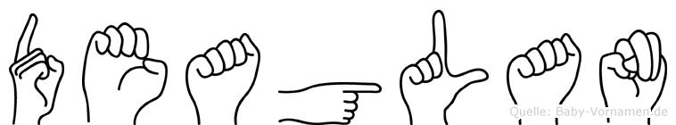 Deaglan in Fingersprache für Gehörlose