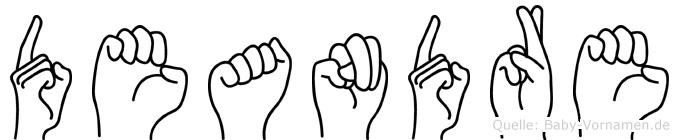 Deandre im Fingeralphabet der Deutschen Gebärdensprache