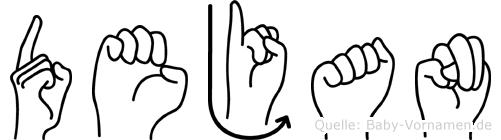 Dejan in Fingersprache für Gehörlose