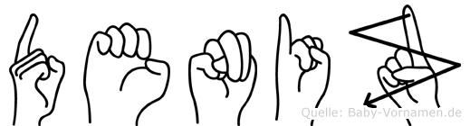 Deniz im Fingeralphabet der Deutschen Gebärdensprache