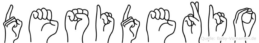 Desiderio im Fingeralphabet der Deutschen Gebärdensprache