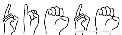 Diede in Fingersprache für Gehörlose