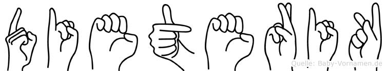 Dieterik im Fingeralphabet der Deutschen Gebärdensprache