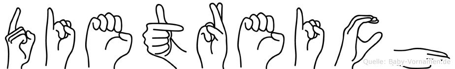 Dietreich in Fingersprache für Gehörlose