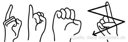 Diez im Fingeralphabet der Deutschen Gebärdensprache