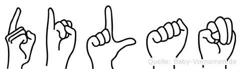 Dilan im Fingeralphabet der Deutschen Gebärdensprache