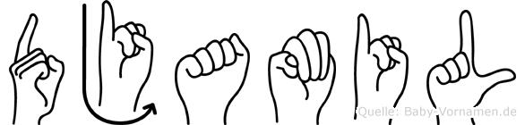Djamil in Fingersprache für Gehörlose