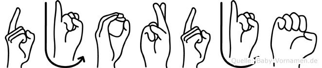 Djordje in Fingersprache für Gehörlose