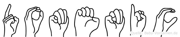 Domenic im Fingeralphabet der Deutschen Gebärdensprache