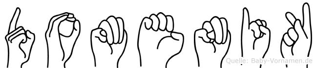 Domenik im Fingeralphabet der Deutschen Gebärdensprache
