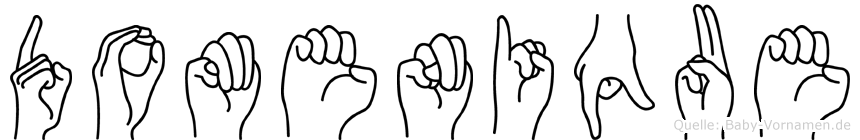 Domenique im Fingeralphabet der Deutschen Gebärdensprache