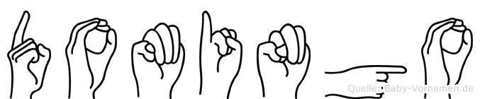 Domingo im Fingeralphabet der Deutschen Gebärdensprache