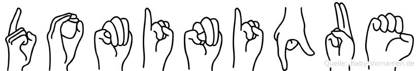 Dominique im Fingeralphabet der Deutschen Gebärdensprache