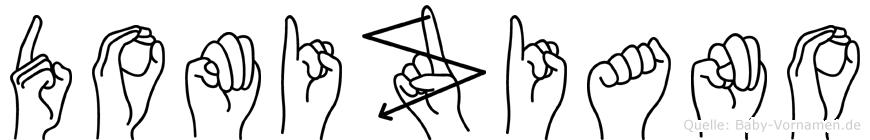 Domiziano im Fingeralphabet der Deutschen Gebärdensprache