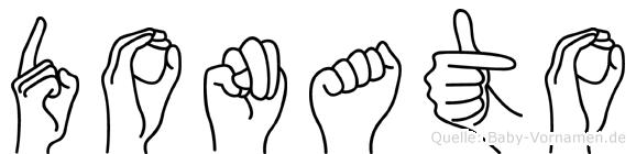 Donato in Fingersprache für Gehörlose