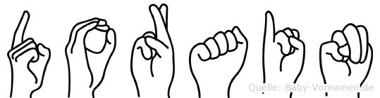 Dorain im Fingeralphabet der Deutschen Gebärdensprache