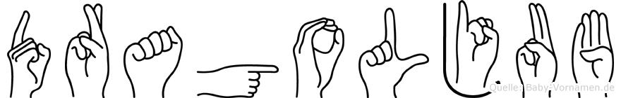 Dragoljub im Fingeralphabet der Deutschen Gebärdensprache